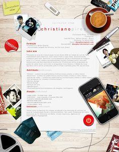 diseño de currículum collage Diseños de currículums que impresionan