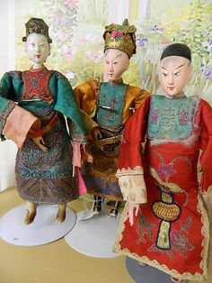 3 PC of antique Chinese dolls: Opera Dolls