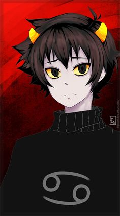 Omg I love this picture <3 sad Karkat. Can we find a not angry and not sad Karkles? No? Ok he's still adorable.