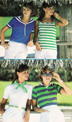 1977. This is so true.  The polo shirts in those colors were worn by both sexes.  They bring back memories of Columbia MO.