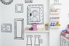 нарисованная полка с книгами на стене - Пошук Google
