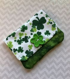 A personal favorite from my Etsy shop https://www.etsy.com/listing/570733086/credit-card-holder-shamrock-fabric-gift