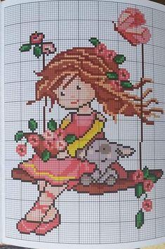 Tiny Cross Stitch, Cross Stitch Flowers, Cross Stitch Embroidery, Cross Stitch Patterns, Quilt Patterns, Crafts For Girls, Diy And Crafts, Filet Crochet, Baby Blanket Crochet