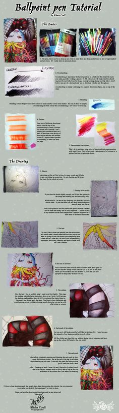 Ball Point Pen tutorial...for that art therapy client who will only draw with a ball point pen.