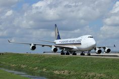 The heavy Singapore Airlines Cargo Boeing 747 freighter @ Schiphol