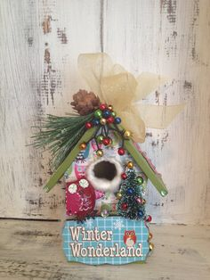 Christmas Ornament with OWL  WOODLAND by BirdhouseGiftGallery, $20.00