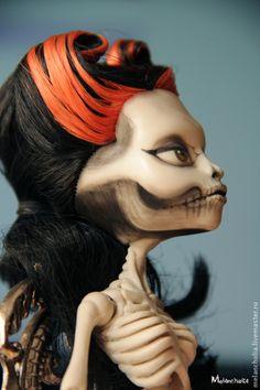 Monster high OOAK doll ооак куклы Скелита Калаверас. Handmade.