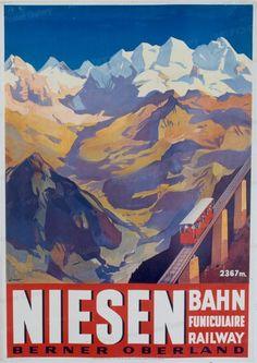 NIESEN BAHN - Berner Oberland 1935 von Ernst, Otto