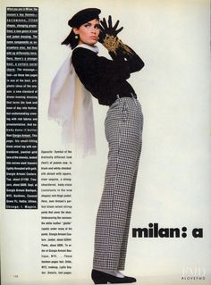 Milan… a Different Slant in Vogue USA with Kim Williams – – Fashion… Milan… a Different Slant in Vogue USA with Kim Williams – – Fashion Editorial High Fashion Poses, Fashion Model Poses, Fashion Photography Poses, Fashion Models, Vogue Fashion, Look Fashion, Vogue Poses, Vintage Outfits, Vintage Fashion