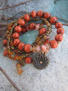 Bohemian Gypsy Soul of the Tiger Orange Agate by thirdtimecharms, $25.00