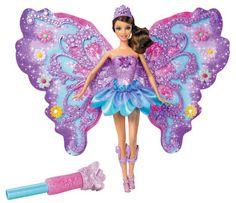 """Barbie Flower 'N Flutter Fairy Doll - Purple - Mattel - Toys """"R"""" Us Toys For Girls, Kids Toys, Porcelain Dolls Value, Flower Petals, Flowers, Barbie Toys, Barbie 1990, Mermaid Dolls, Fairy Princesses"""