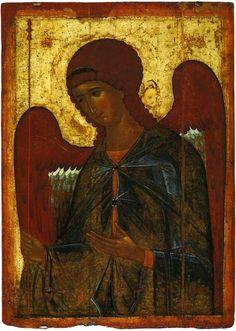 Архангел Гавриил Третьяковская галерея 1387–1395гг.