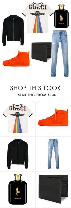 """""""cool outfit for men"""" by inessophiefromaustria ❤ liked on Polyvore featuring Gucci, Christian Louboutin, Dear Deer, Dolce&Gabbana, Polo Ralph Lauren, HUGO, men's fashion and menswear"""