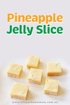 This Pineapple Jelly Slice is an old recipe from my adorable Grandmother. She is my inspiration and where so many of my favourite memories, especially food related come from! Pineapple Shake, Pineapple Slices, Crushed Pineapple, Old Recipes, Tart Recipes, Snack Recipes, Dessert Recipes, Vegan Jelly, Jelly Slice