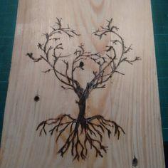 Probando #pirograbado  #arbol #tree #paletjauna