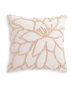 Create a relaxed sleeping environment with the Tufted Floral euro sham from Lucky Brand, with decorative tufting, a beautiful white ground and the soft touch of cotton. Needle Cushion, Punch Needle Patterns, Kids Jewelry, Punch Art, Bedding Collections, Lucky Brand, Hand Embroidery, Decorative Pillows, Weaving