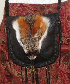Leather fox face possibles bag mountain man by LeatherBagLady