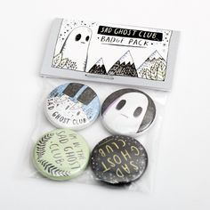 Magnificently awesome badge packs for Lize Meddings & her Sad Ghost Club!   http://lizemeddings.tumblr.com/