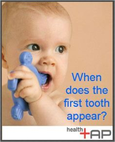Wondering when your baby's first tooth will appear? See what our top pediatricians say! #health #baby #teeth