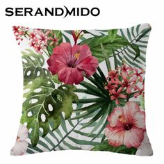 Cheap chair and desk set, Buy Quality chair heater directly from China chair sofa Suppliers:                                  Green Leaves Red Flower Print Pillowcase Cotton Linen Chair seat and Waist