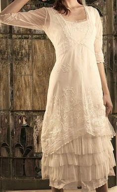 vintage beach 1920's wedding dress