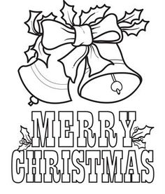 FREE Printable Christmas Bells Coloring Page For Kids