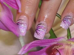 Schöne nägel french nails - Today Pin - Famous Last Words Nail Tip Designs, French Nail Designs, Colorful Nail Designs, Acrylic Nail Designs, Acrylic Nails, French Nails, French Pedicure, Purple French Manicure, Purple Nails
