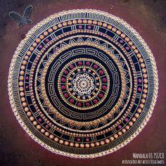 abstract dot art painting MANDALA 03TS17CO Tessa Smits full