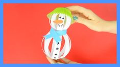 Paper Strips Snowman Craft - fun Winter craft for kids