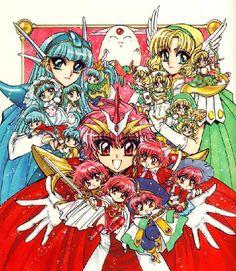 CLAMP - Magic Knight Rayearth 【Umi, Hikaru, Fuu & Mokona】