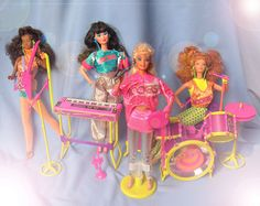 Barbie and The Rockers 1986 by 80Barbie collector, via Flickr