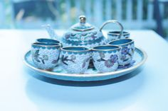 Gorgeous Old CLOISONNE MINI Tea set  by lisaperrymcquilkin on Etsy, $32.00 COUPON CODE IS twitter15