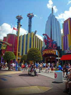 SpiderMan at Marvel Heroes in Universal's Islands of Adventure, Orlando