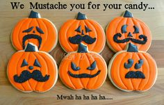Halloween Cookies | Lizy B: Halloween Mustache Cookies!
