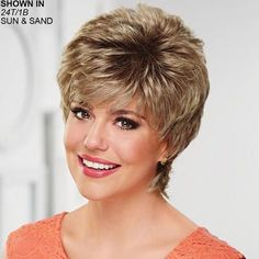 Daisy WhisperLite® Wig by Paula Young® - Short Hair Styles Short Grey Hair, Short Hair Updo, Short Hair With Layers, Hair Styles For Women Over 50, Short Hair Cuts For Women, Short Hairstyles For Women, Glamour Hair, Short Haircut Styles, Cheap Human Hair