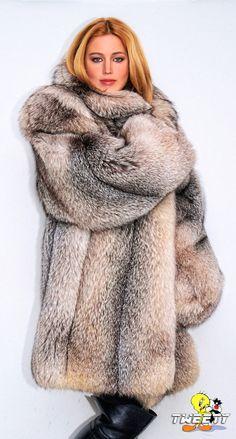 Jennifer Lawrence in fox fur coat by Tweety63