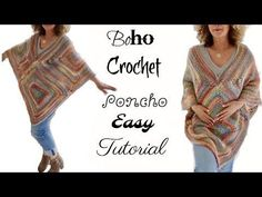 Annoo's Crochet World: Search results for Fall boho crochet poncho Poncho Au Crochet, Boho Crochet, Poncho Knitting Patterns, Crochet Shoes, Crochet Beanie, Crochet Clothes, Crochet Baby, Free Crochet, Knit Crochet