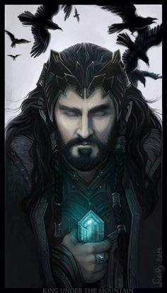 Thorin, King Under the Mountain by Sceithailm on deviantart