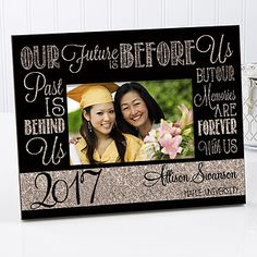 Our Future Is Before Us Personalized Graduation Frame Graduation Picture Frames, Graduation Pictures, Graduation Year, Graduation Celebration, Glitter Backdrop, Personalized Graduation Gifts, Trending Christmas Gifts, Personalized Picture Frames