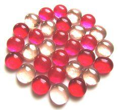 Stones 100 Glass Pebbles Nuggets Orange /& Lime Mix Mosaic Tiles