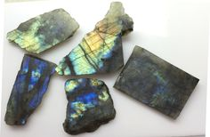 824CT NATURAL LABRADORITE ROUGH SLICE GEMS FLASHY LOOSE LOT RAW MINERAL SPECIMEN #ROUNDSNROSES