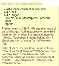 Boneless pork ribs in oven made easy