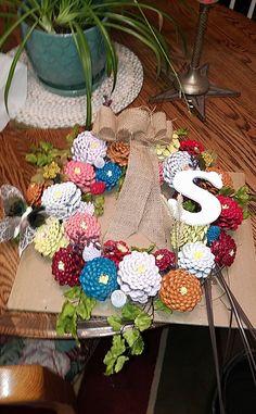 pinecone wreath I made