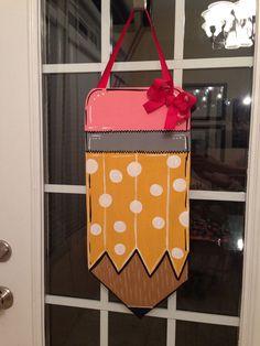 Wooden Pencil Door Hanger on Etsy, $30.00