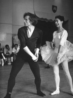 Nureyev and Fonteyn in rehearsal for Raymonda, which Nureyev also directed, at the Royal Ballet School, London, July Photo by Jane Bown. Shall We Dance, Lets Dance, Jane Bown, Male Ballet Dancers, Ballet Art, Margot Fonteyn, Vintage Ballet, Nureyev, Actor