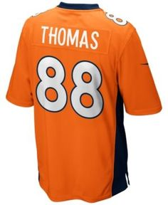 Nike Men's Demaryius Thomas Denver Broncos Game Jersey - Orange XL