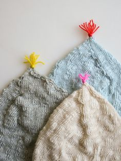 Laura's Loop: Pointy Hats forNewborns - The Purl Bee - Knitting Crochet Sewing Embroidery Crafts Patterns and Ideas!