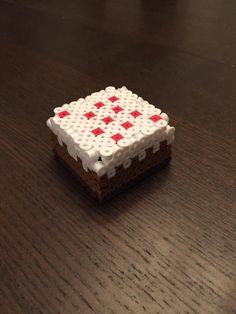 3D Perler Minecraft Cake by GeekySprites on Etsy