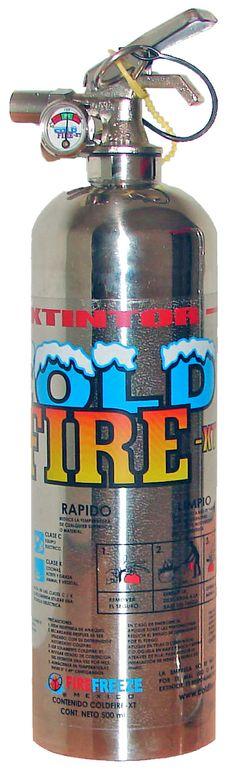 Extintor Cold Fire de 500 ml en acero inoxidable  #extintor #cold_fire #extinguidor #fireman #coldfire #incendio #bombero