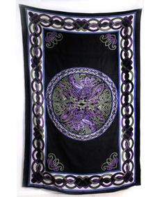 hand woven bedspread celtic pattern india by seaich